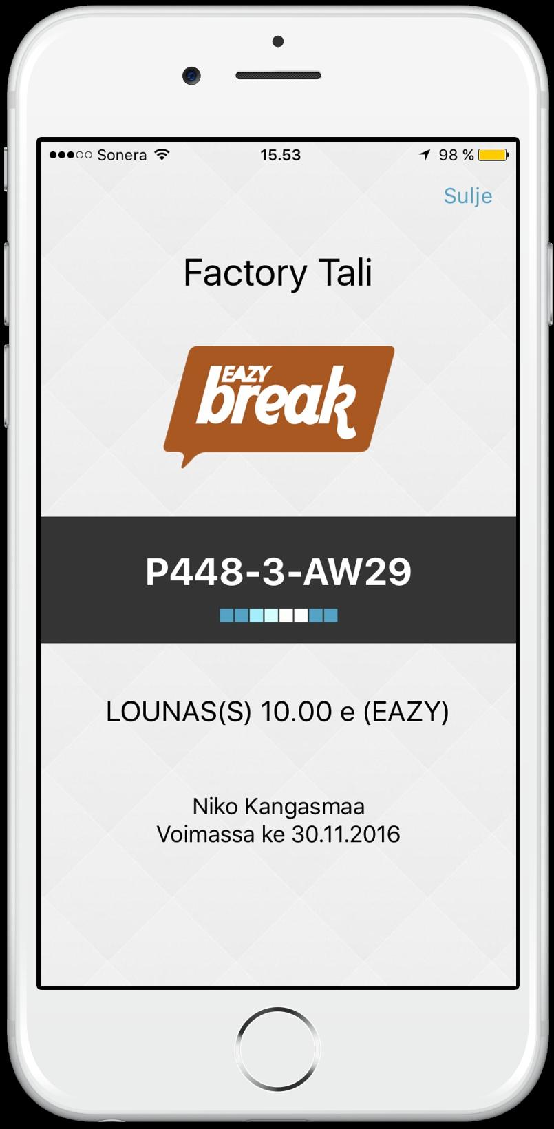 Eazybreak mobiiliseteliin lisätty liikkuva elementti